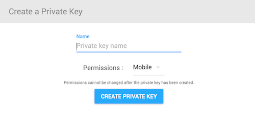 Woosmap Create a Private Key